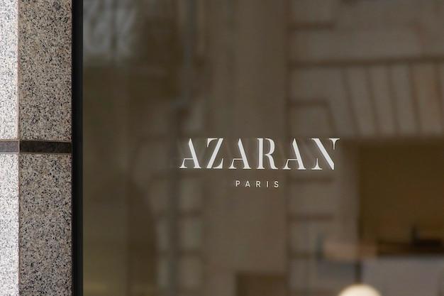 Maquette de logo de signe de fenêtre de luxe
