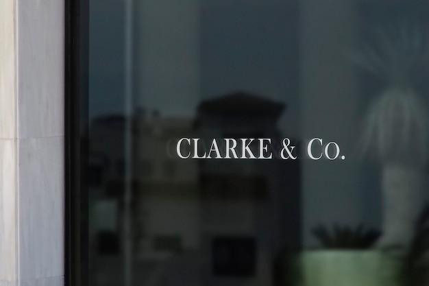 Maquette de logo de signe de fenêtre en marbre