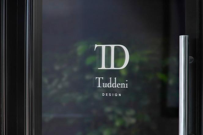 Maquette de logo de signe de fenêtre de porte de luxe