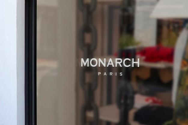 Maquette de logo de signe de fenêtre de vêtements modernes