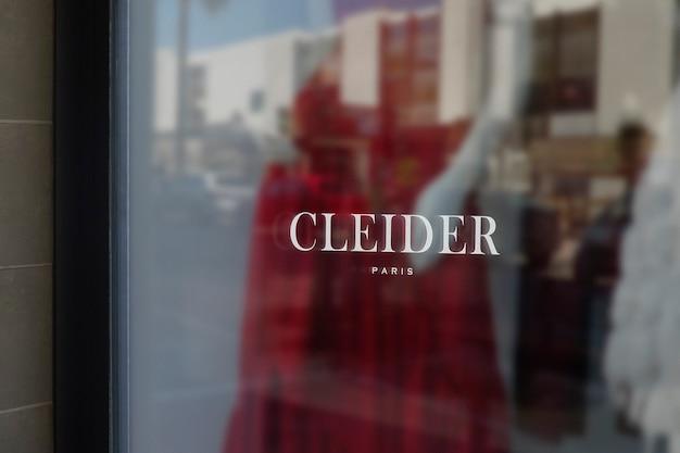 Maquette de logo de signe de fenêtre de vêtements