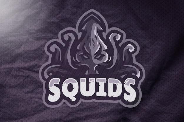 Maquette de logo sport en jersey violet foncé