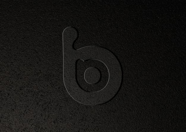 Maquette de logo sur la texture de l'asphalte