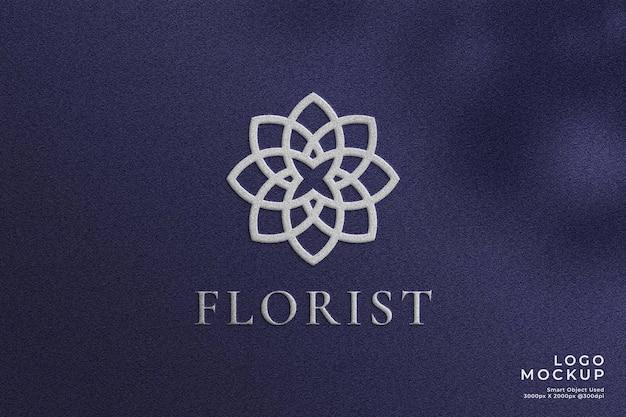 Maquette de logo texturé de luxe