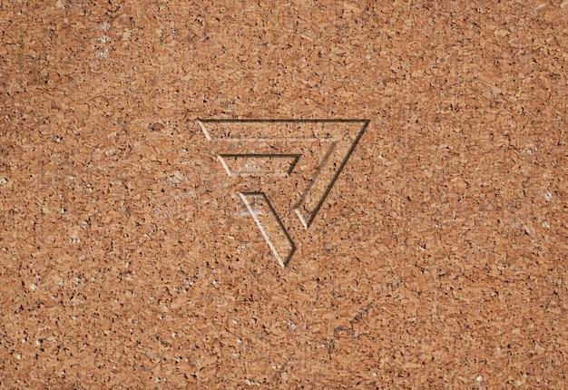 Maquette de logo de texture de panneau de particules