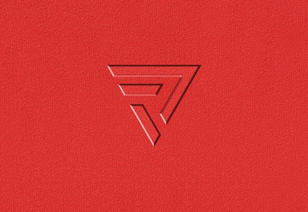 Maquette de logo de texture en plastique rouge