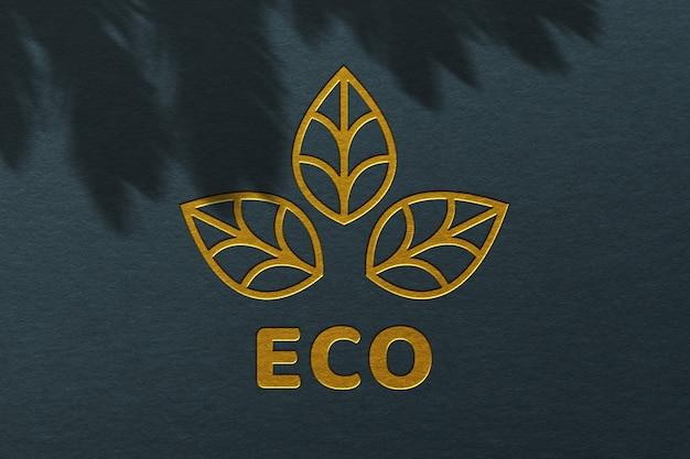 Maquette de logo de texture de surface en carton