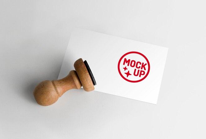 Maquette de logo de timbre en caoutchouc