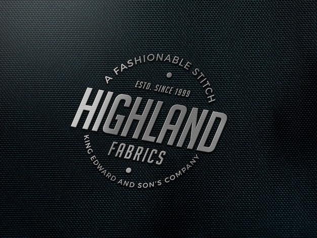Maquette de logo en tissu réaliste
