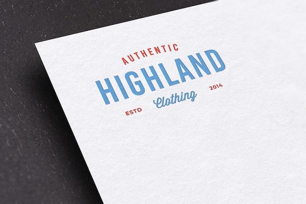 Maquette de logo de typographie