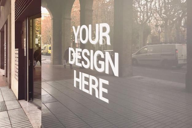 Maquette de logo en verre street shop