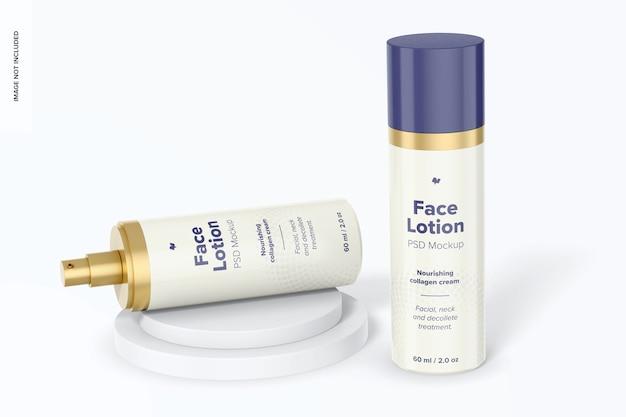 Maquette de lotions pour le visage