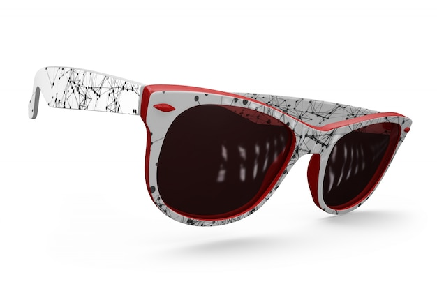 Maquette de lunettes de soleil colorées