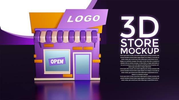 Maquette de magasin 3d dans toutes les directions
