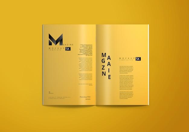 Maquette de magazine a4