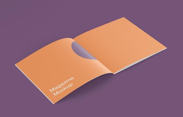 Maquette de magazine ou de brochure ouverte