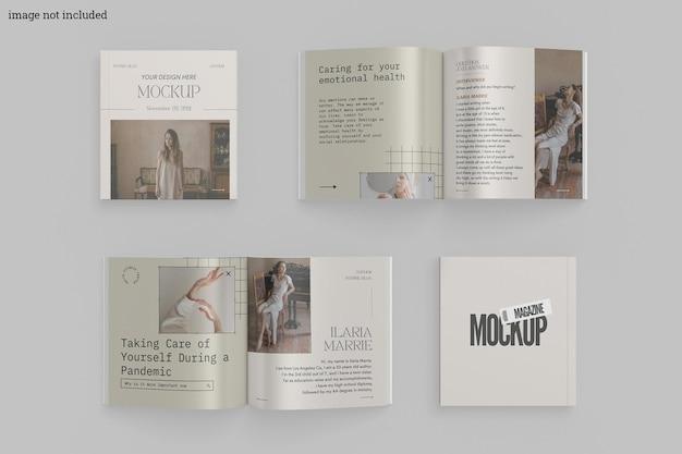 Maquette De Magazine Carré PSD Premium