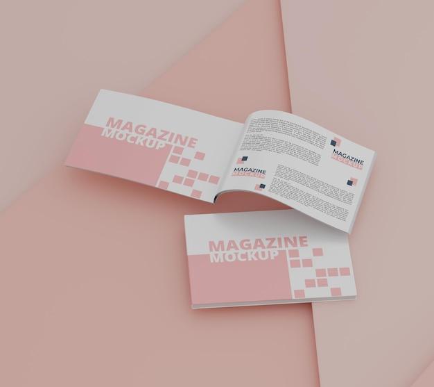 Maquette de magazine avec un concept simple