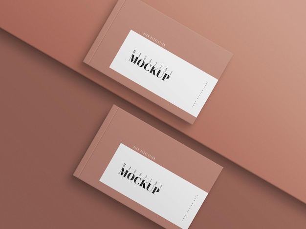 Maquette de magazine double moderne