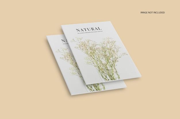 Maquette de magazine éditorial nature et plantes