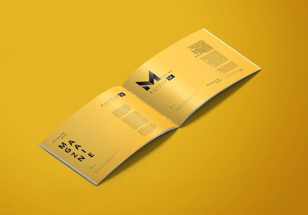 Maquette de magazine horizontale