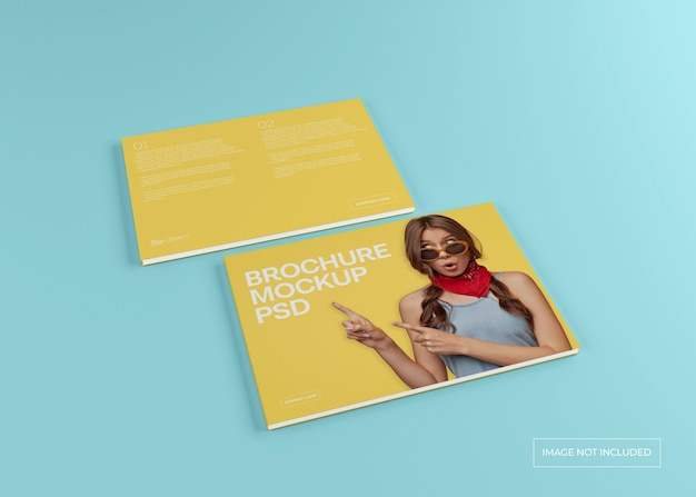 Maquette de magazine large, catalogue de brochures et couverture de dépliant