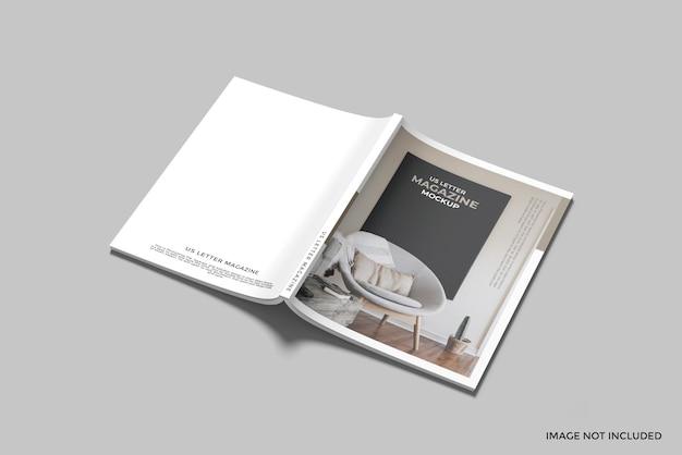 Maquette de magazine de lettre américaine
