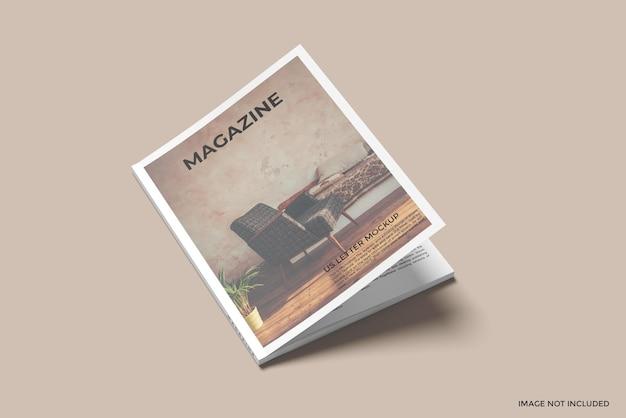 Maquette de magazine de lettre de couverture nous