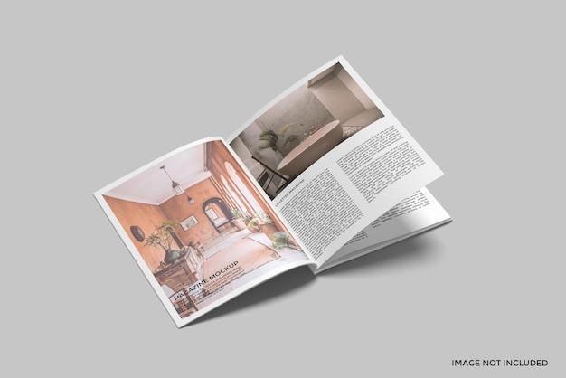 Maquette de magazine de lettre nous a ouvert