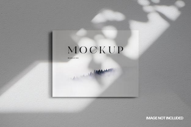 Maquette de magazine lettre nous paysage minimaliste