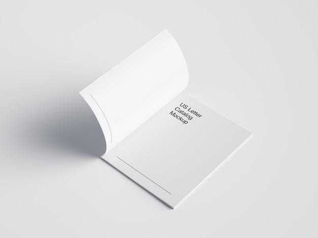 Maquette de magazine de lettre ouverte