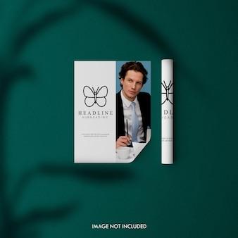 Maquette de magazine de luxe