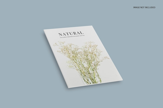 Maquette de magazine naturel à couverture minimale