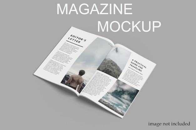 Maquette de magazine ouvert premium psd