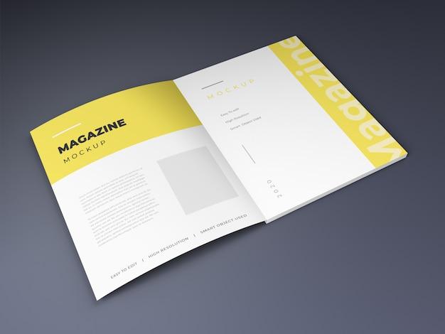 Maquette de magazine ouvert
