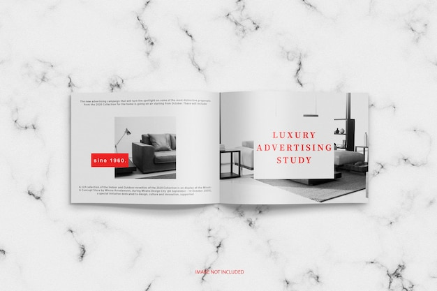 Maquette de magazine ouverte minimaliste