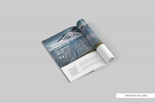 Maquette de magazine perspective view