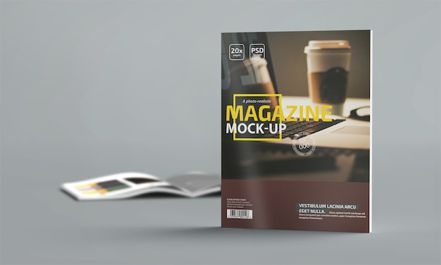 Maquette de magazine photo-réaliste