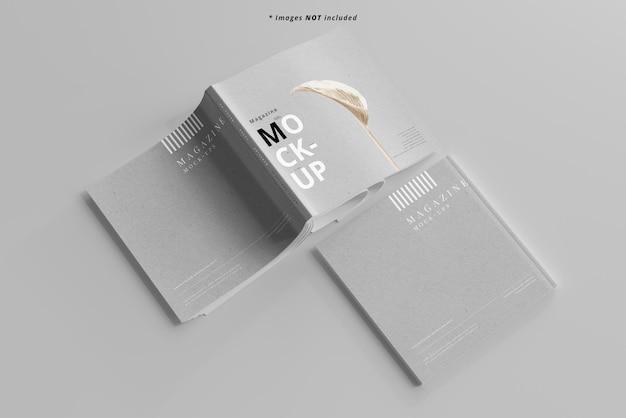 Maquette de magazines carrés