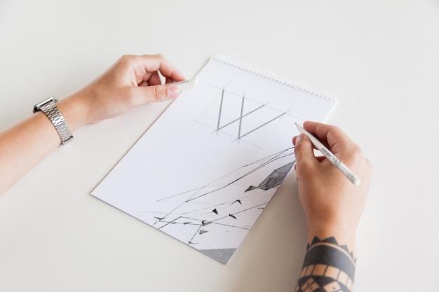 Maquette de main de peintre