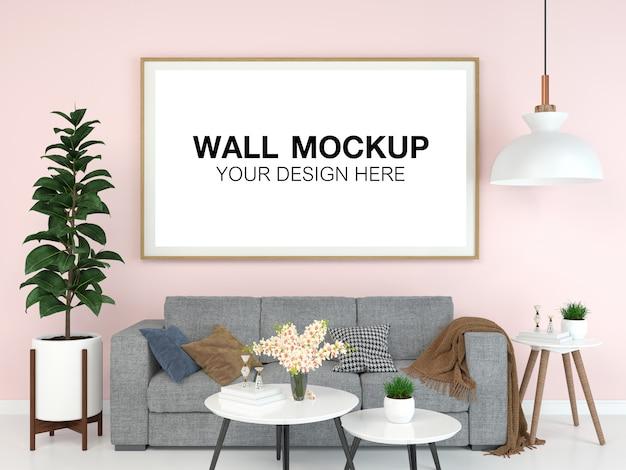 Maquette de maison intérieure de salon