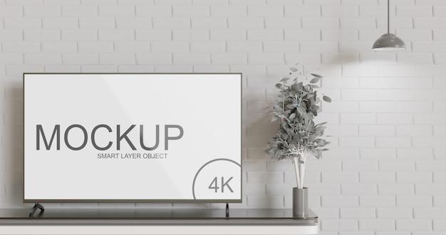 Maquette de maquette de télévision à écran led minimaliste