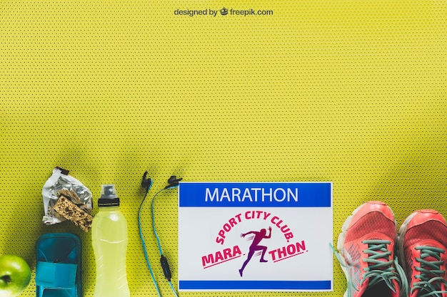 Maquette de marathon