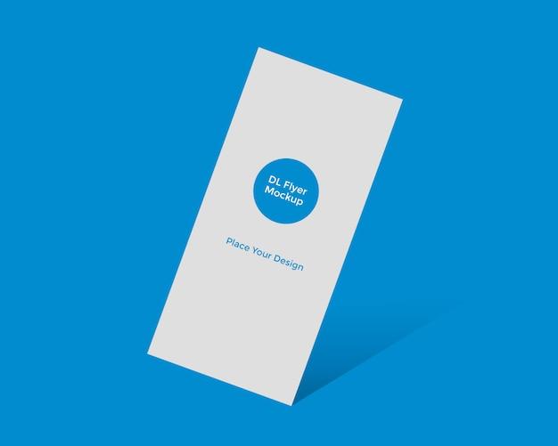 Maquette de marketing de carte de rack dl flyer d'entreprise