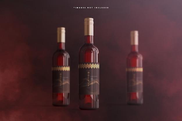 Maquette de marque de bouteille de vin à bouchon à vis