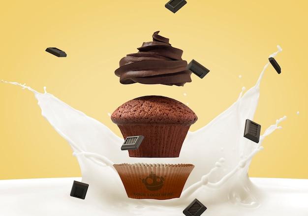 Maquette de marque cupcake
