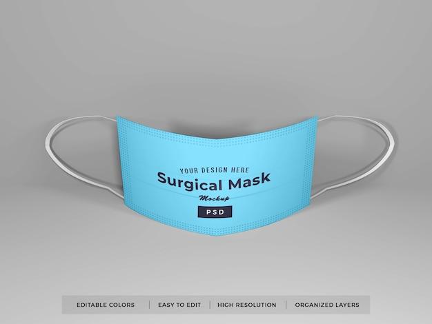 Maquette de masque chirurgical réaliste