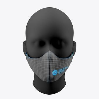 Maquette de masque médical isolé