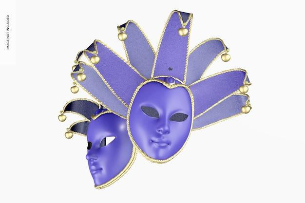 Maquette de masques intégraux jester, flottant