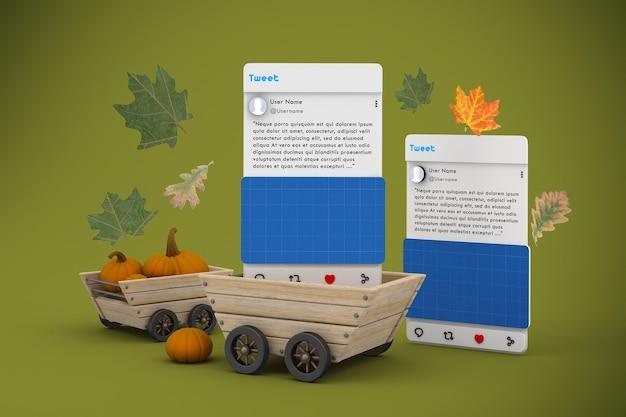 Maquette des médias sociaux de thanksgiving v1